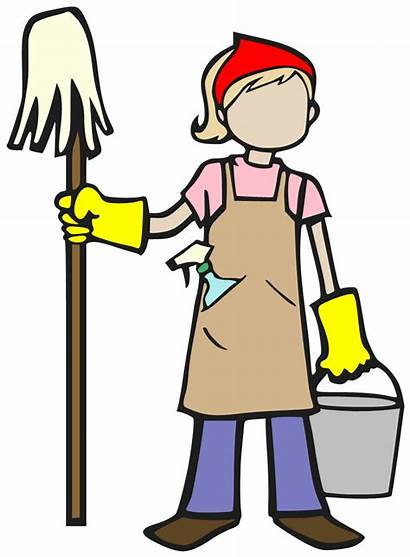 Cleaning Spring Cleaner Cartoon Clipart Clip Lady