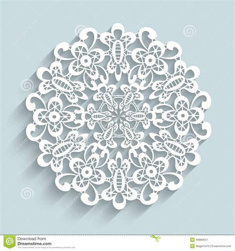 napperons en papier dentelle napperon de papier de dentelle illustration de vecteur image 46884647
