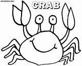 Crab Coloring Pages Print Colorings sketch template