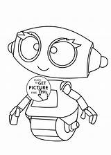 Robot Coloring Cartoon Rob Printable Robots Drawing Drawings Characters Printables 4kids Sheets Cartoons Cool Boys Boy Character Cliparts Template Clipart sketch template