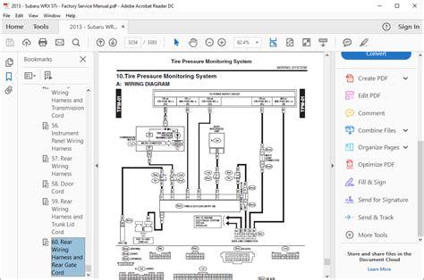 2013 Subaru Wrx Interior Wiring Diagram by Subaru Wrx Workshop Repair Manual