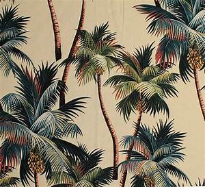 11 tropical leaf print barkcloth fabrics in 31 colorways ...