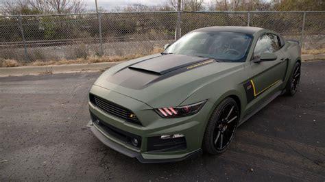 Matte Military Green Roush RST EcoBoost Mustang - GTspirit