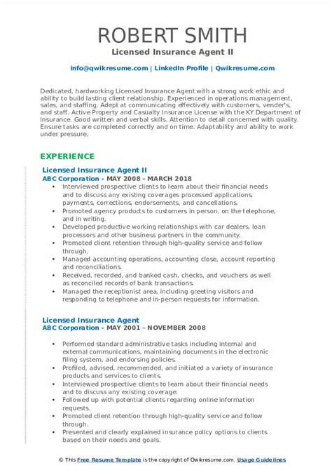 The investigation division investigates suspected fraud committed by insurance agents, brokers, public adjusters, bail agents, insurance companies and other individuals and. Licensed Insurance Agent Resume Samples   QwikResume