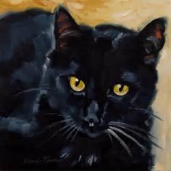 Black Cat Oil Paintings