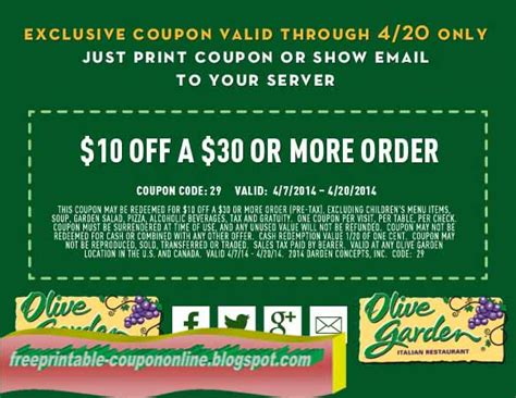 olive garden coupons printable coupons 2018 olive garden coupons