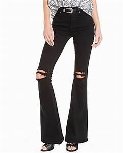 Bootcut jeans svarta