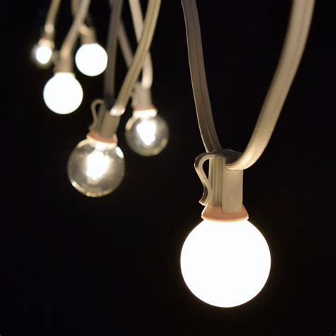 25 clear white globe string lights white c7 strand
