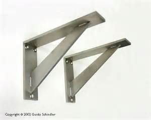 Wrought Iron Cabinet Hardware by Stainless Steel Angle Brackets