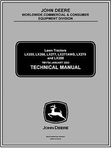 John Deere Lx277 Lawn Garden Tractor Service Repair Manual