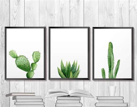 Green Plant Print. Cactus Printable. Botanical Art