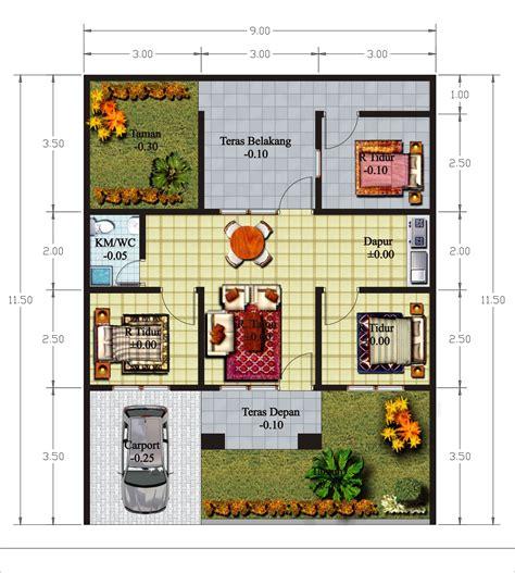 desain rumah ukuran   kamar