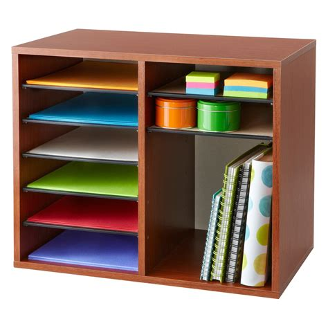 office and desk supplies safco wood adjustable literature organizer 12