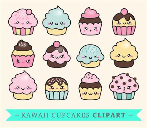 Kawaii Clipart by Premium Vector Clipart Kawaii Cup Cakes Cupcakes