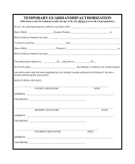 10 sle temporary guardianship forms pdf
