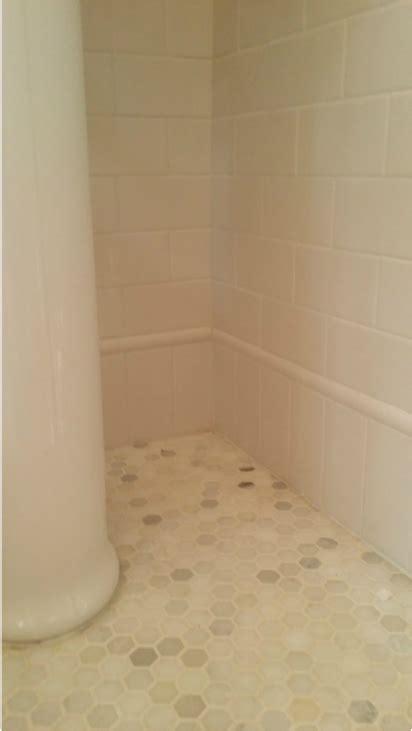 white subway tile baseboard   quarter