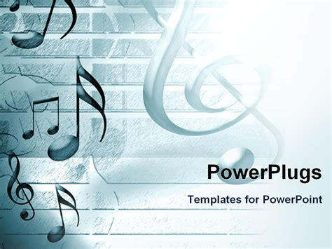 powerpoint template lots  musical note symbols