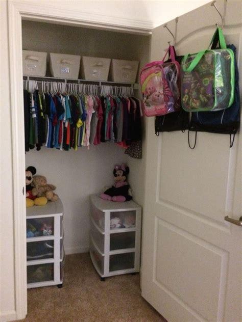 organizing  small closet   kids toddler room