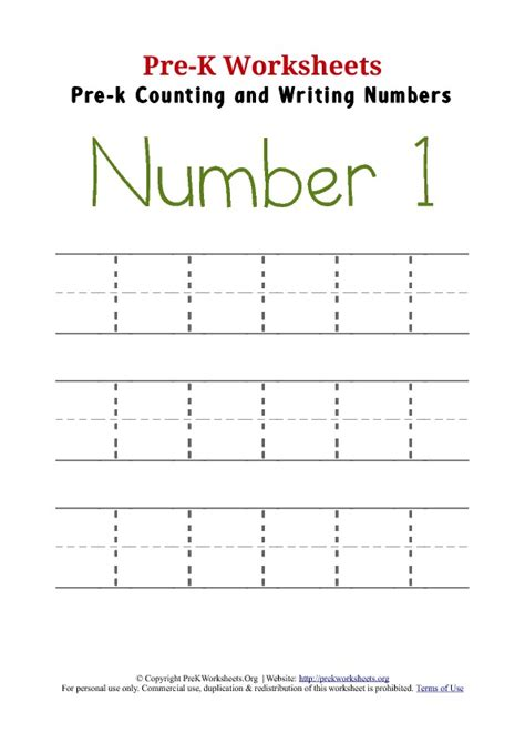 number 1 preschool worksheet numbers preschool pinterest worksheets writing numbers and