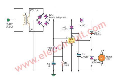 Scr Motor Speed Control Circuit Using Cmos