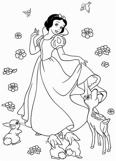 Coloring Snow Printable Disney Princess