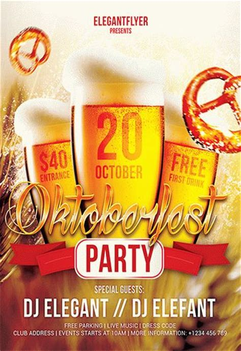 oktoberfest party flyer psd template  elegantflyer