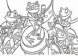 Band Jazz Coloring Pages Template Frogs sketch template
