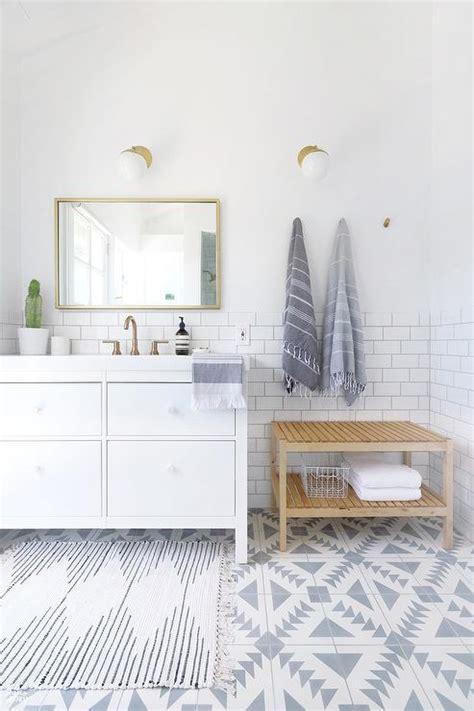 Ikea Yddingen Washstand with Ikea Skogsvag Mirror