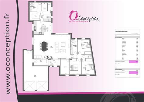 plan maison 3 chambres plain pied garage maison contemporaine avec toit plat et toit monopente à