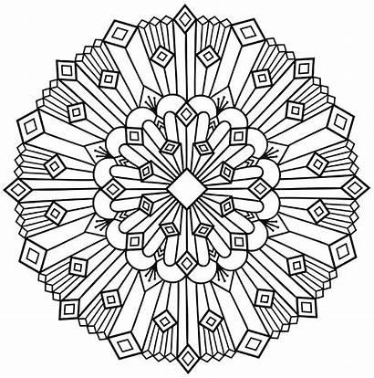 Mandala Simple Deco Coloring Mandalas Pages Adult