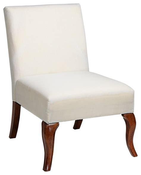 armless slipper chair slipcovers traditional muslin covered leg armless slipper