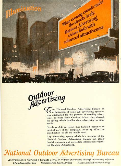 advertising bureau national outdoor advertising bureau 1920 caigns