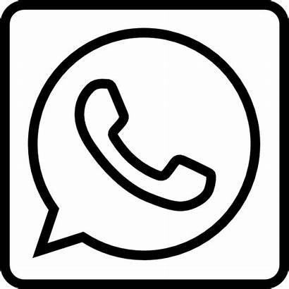Whatsapp Icono Social Icon Blanco Outline Gratis