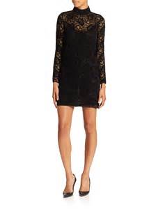 the kooples long sleeve lace dress in black lyst