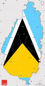 Outline Map Of South America Flag Simple Map Of Saint Lucia Flag Centered