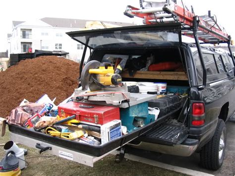 slide out tool box for bed truck bed slide out carpentry contractor talk