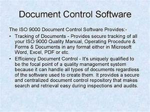 Iso 9001 software document control software funnydogtv for Iso document control software