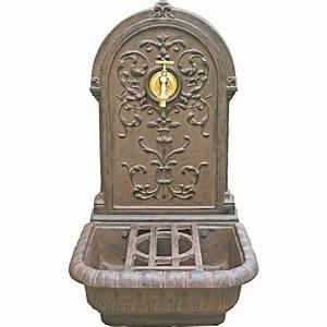 Fontaine A Eau Exterieur : fontaine en fonte rouille renaissance leroy merlin ~ Dailycaller-alerts.com Idées de Décoration