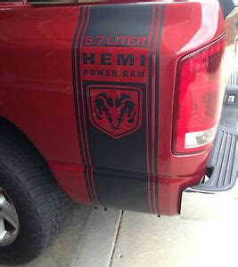 dodge ram  hemi truck bed side stripes graphics sticker