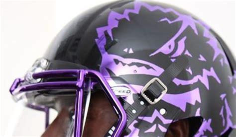 tcu  wear debut  chrome helmets  game