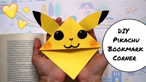 diy pikachu bookmark corner pokemon  easy