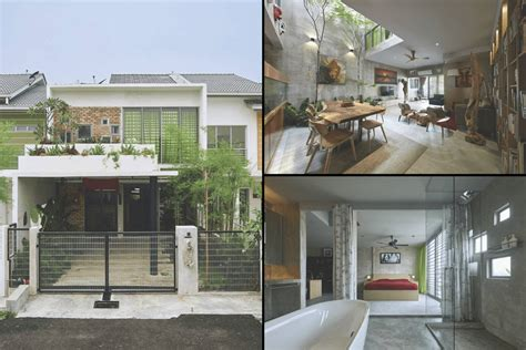 basic selangor double storey terrace house  transformed