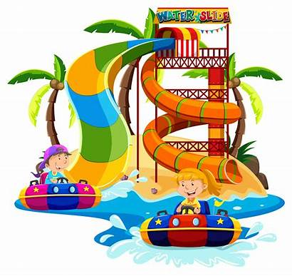 Slide Water Clip Boy Vector Clipart Playing