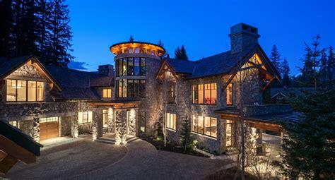 million mountaintop stone mansion  whistler canada