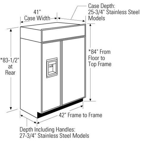 ge monogram zissdhss   counter depth side  side refrigerator   cu ft