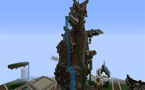 steampunk tower house minecraft project