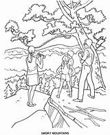 Coloring Mountains Pages Park Arbor Smoky National Parks Smokey Sheets Printables Mountain History Sheet Printable Tree State Forest Usa Colouring sketch template