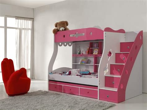 Fresh Cool Bunk Bed For Girl Loft Your Kid Pink Singgle