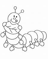 Coloring Insects Pages Caterpillar Cartoon Children Drawing Printable Bees Funny Hungry Animals sketch template