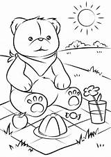 Coloring Bears Pages Easy Children sketch template